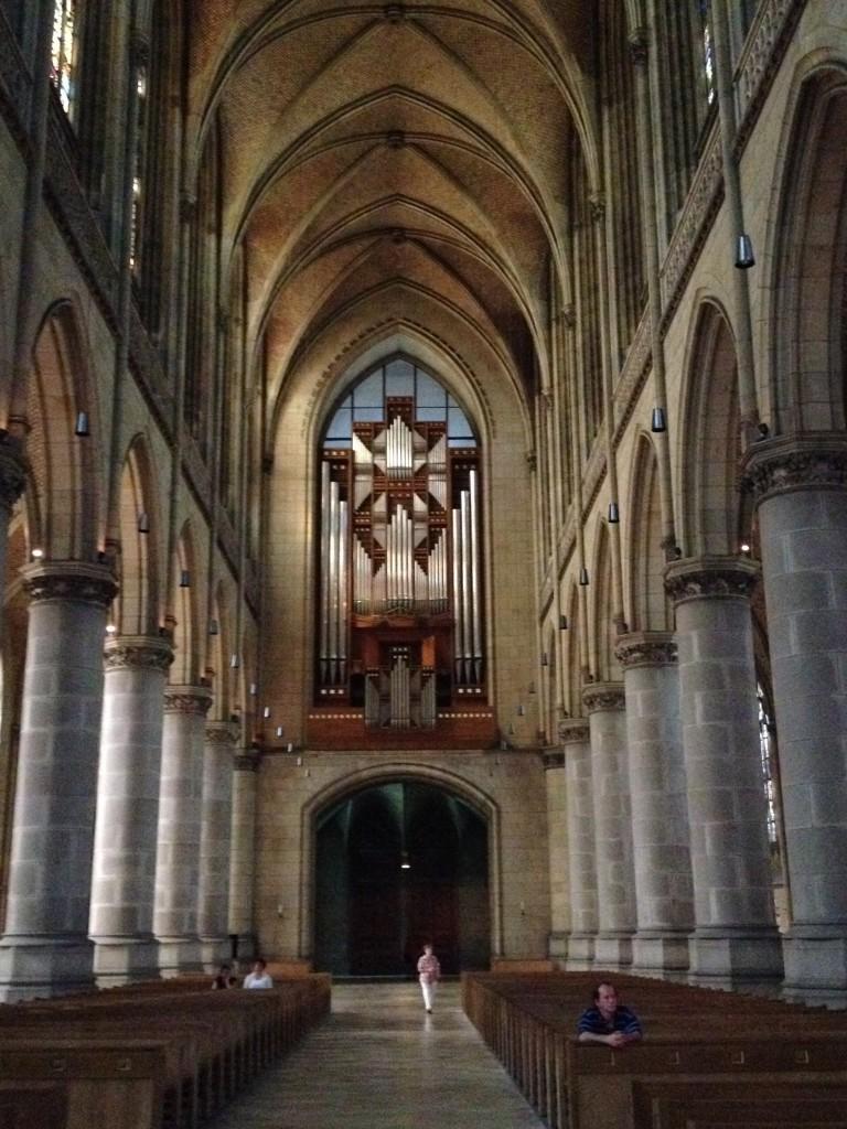 Beeindruckend die Orgel