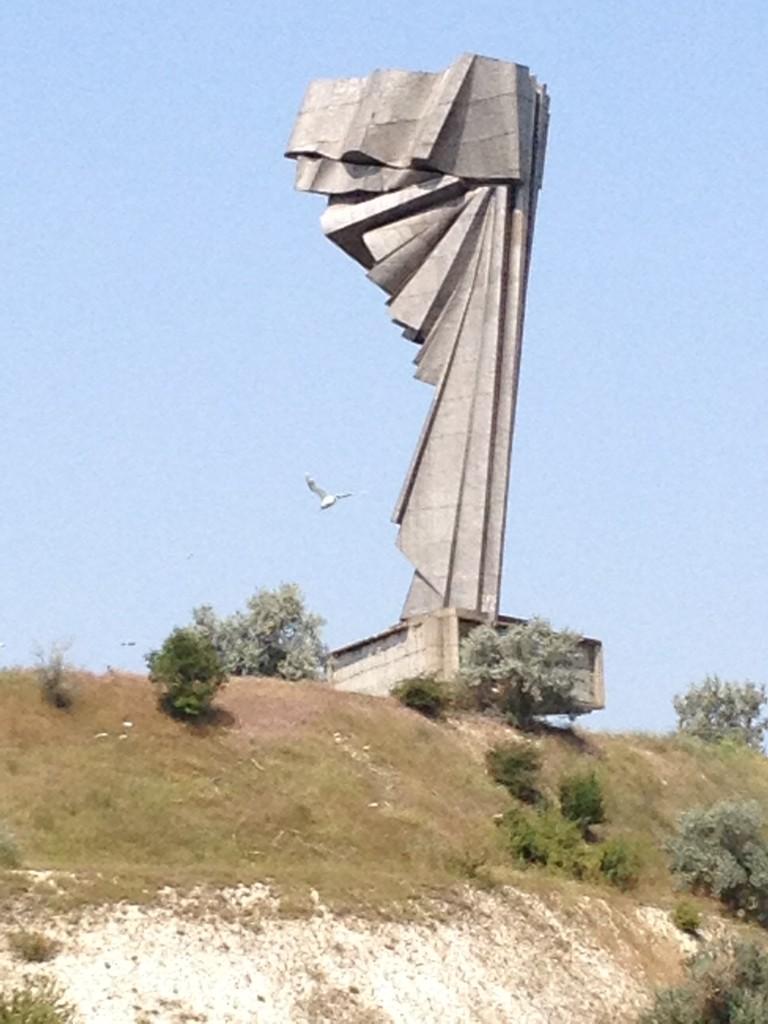 und die andere Seite dieser Skulptur