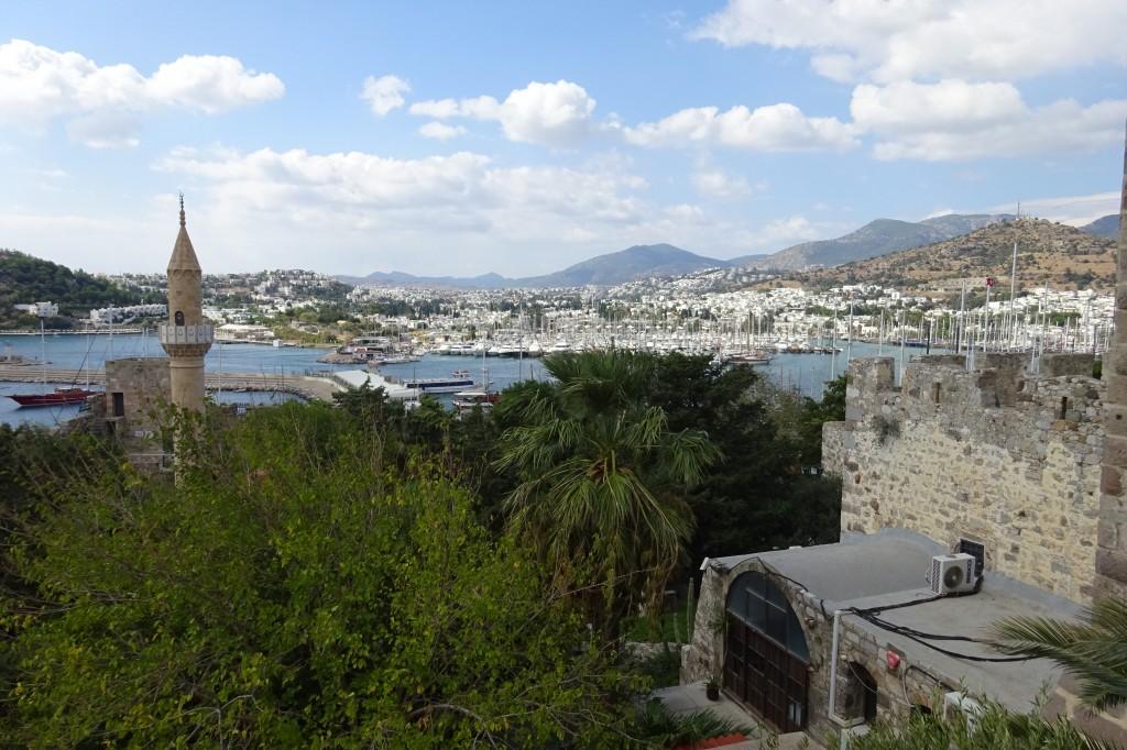 Blick von der Burg auf Bodrum