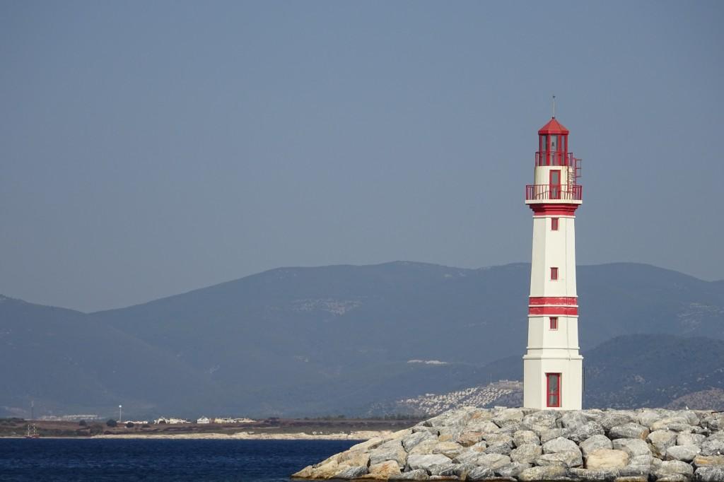 der wunderschöne Leuchtturm von Didim Marina
