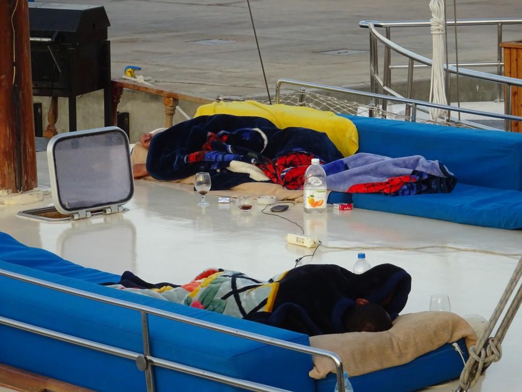 Schlafplätze auf Aladin, Fischschwärme 001