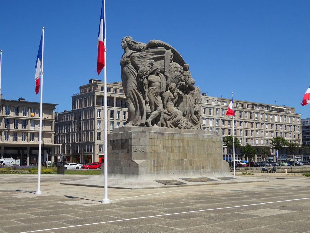 Denkmal an die vielen tausenden von Toten während der Befreiung von Le havre